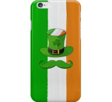 Ireland Flag & Shamrock Leprechaun Hat Mustache iPhone Case/Skin