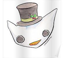 """Oro?"" Christmas Series-Snowman Poster"