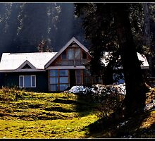 house on the hill top(kashmir) by priyangshi ray
