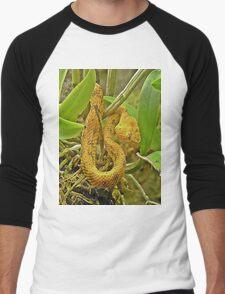 Eyelash viper  Men's Baseball ¾ T-Shirt