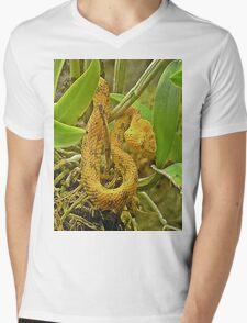 Eyelash viper  Mens V-Neck T-Shirt
