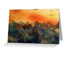 Bats over the jungle Greeting Card