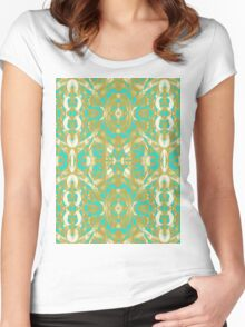 Baroque Style Inspiration Women's Fitted Scoop T-Shirt