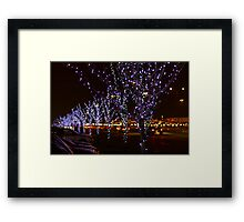 Infinite Christmas Trees Framed Print
