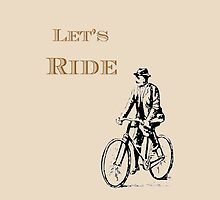 Let's Ride iPhone iPod by wlartdesigns