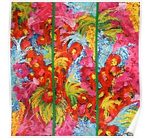 Abstract Triptych  Poster