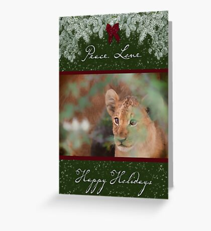 Cub's Safe Place for the Holidays Greeting Card