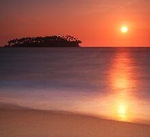 Beruwela. Sunset island by naumenko