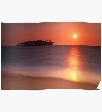 Beruwela. Sunset island Poster