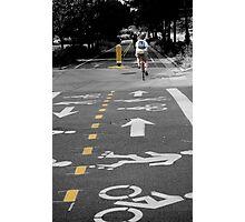 Single Biker on the Road Photographic Print