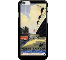 Vintage Ad Ship and Train iPhone iPhone Case/Skin
