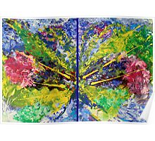 Contemporary Abstract Diptych Poster