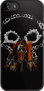 Gunshots Holes Headbone Skull  iPad Case / iPhone 5 case / i / Samsung Galaxy Cases Phone 4 Case / T-Shirt / Pillow / Tote Bag by CroDesign