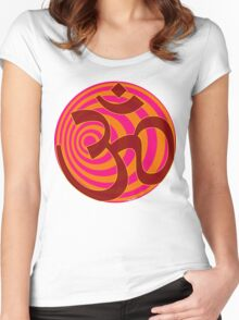 Om Symbol T-Shirt Women's Fitted Scoop T-Shirt