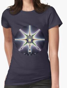 Purple Space Womens Fitted T-Shirt