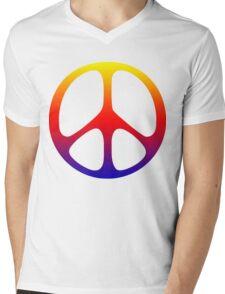 Peace Symbol T-Shirt  Mens V-Neck T-Shirt