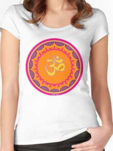 Om Symbol T-Shirt-2 Women's Fitted Scoop T-Shirt