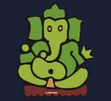 Green Ganesh T-Shirt Kids Tee