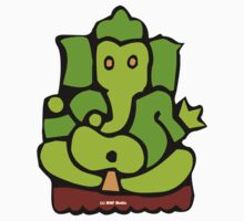 Green Ganesh T-Shirt by mindofpeace