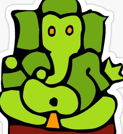 Green Ganesh T-Shirt Sticker
