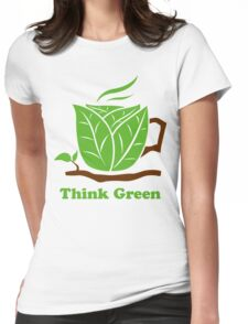 Think Green T-Shirt Womens Fitted T-Shirt
