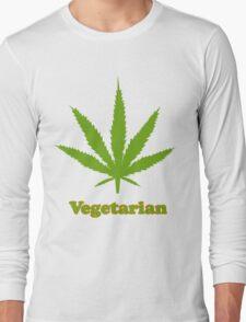 Vegetarian Pot Leaf T-Shirt Long Sleeve T-Shirt