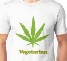 Vegetarian Pot Leaf T-Shirt Unisex T-Shirt
