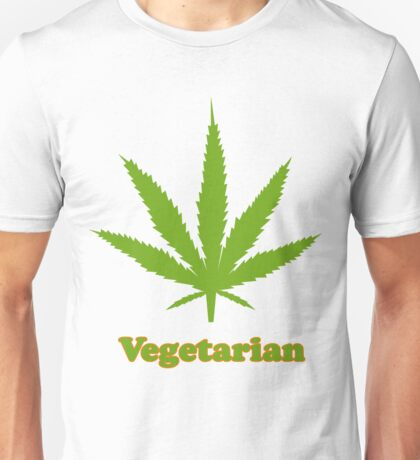 Vegetarian Pot Leaf T-Shirt Unisex T-Shirt