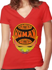 FurTher Human T-Shirt Women's Fitted V-Neck T-Shirt