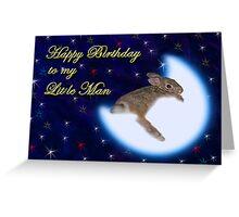 Birthday To My Little Man Bunny Rabbit Greeting Card