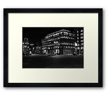Night in the Glasgow city Framed Print
