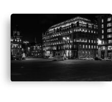 Night in the Glasgow city Canvas Print