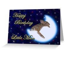 Birthday Little Man Bunny Rabbit Greeting Card