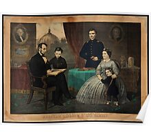 Kelly & Sons portrait of Abraham Lincoln and his family Poster