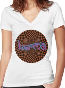 Karma T-Shirt Women's Fitted V-Neck T-Shirt