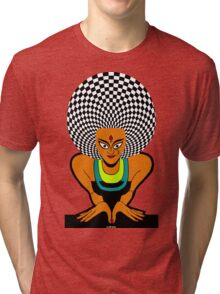 Psychedelic Desi Indian T-Shirt  Tri-blend T-Shirt