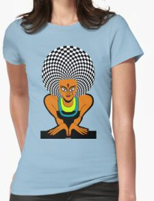 Psychedelic Desi Indian T-Shirt  Womens Fitted T-Shirt