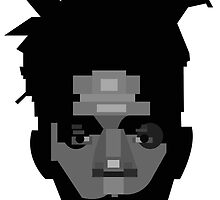Geometric Portrait of Jean-Michel Basquiat by InTheModernEra