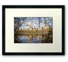 Reflections of New York Framed Print