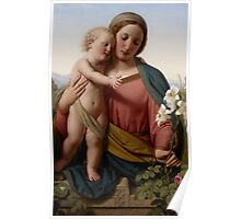 Madonna and Child, 1855 Poster