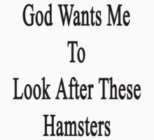 God Wants Me To Look After These Hamsters by supernova23
