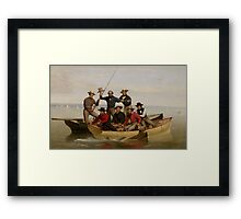 A Fishing Party Off Long Island, 1860  Framed Print