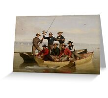 A Fishing Party Off Long Island, 1860  Greeting Card