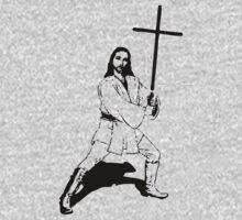 Jesus with Saber T-Shirt Kids Tee