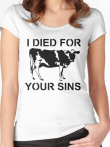 I Died Sins T-Shirt Women's Fitted Scoop T-Shirt