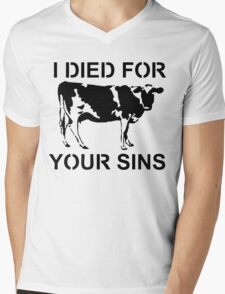I Died Sins T-Shirt Mens V-Neck T-Shirt