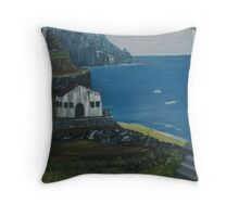 Greek hillside with temples on it. Throw Pillow
