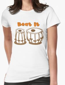Tabla Drum Beat It T-Shirt Womens Fitted T-Shirt