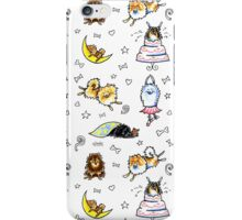 Pomeranian Pattern White iPhone Case/Skin