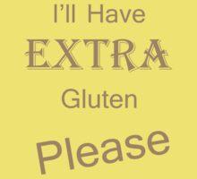 Extra Gluten - Brown Kids Tee